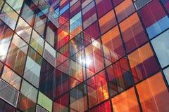 Gebrandschilderd glasmuur stock afbeeldingen