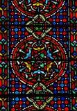 Gebrandschilderd glaspatroon. Royalty-vrije Stock Afbeelding