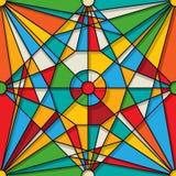 Gebrandschilderd glaspatroon Stock Afbeeldingen