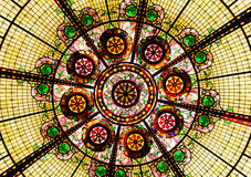Gebrandschilderd glasplafond Stock Foto's