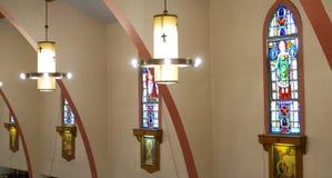 Gebrandschilderd glasvenster Royalty-vrije Stock Foto