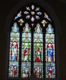 Gebrandschilderd glasvenster in Ballybrack-Kerk, Provincie Dublin royalty-vrije stock foto