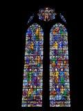 Gebrandschilderd glasvenster in de Kathedraal van Liverpool royalty-vrije stock afbeelding