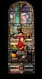 Gebrandschilderd glasvenster de militairen onechte Jesus Royalty-vrije Stock Foto