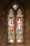 Gebrandschilderd glasvenster die Jesus afschilderen stock foto