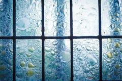 Gebrandschilderd glasvenster met regelmatig blokpatroon royalty-vrije stock afbeelding