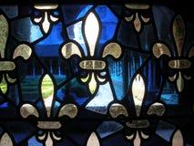 Gebrandschilderd glasvenster van een klooster Stock Afbeelding