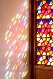 Gebrandschilderd glasvensters en de blinden van de middenleeftijden Stock Foto
