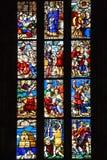 Gebrandschilderd glasvensters in Milan Duomo Royalty-vrije Stock Foto