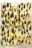 Gebrannt und Loch auf Papier Lizenzfreies Stockfoto