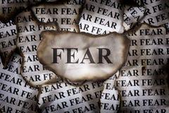 Gebrannte Furcht Stockfotografie