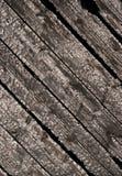 Gebrannte hölzerne Planken Stockfoto
