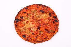Gebrannte Pizza. Lizenzfreies Stockfoto