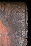 Gebrannte Tür Stockfoto