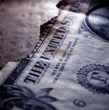 Gebrannter Dollar-Abschluss oben lizenzfreie stockfotos