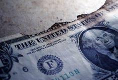 Gebrannter Dollar-Abschluss oben lizenzfreies stockfoto