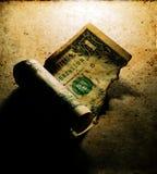Gebrannter Dollar-Abschluss oben lizenzfreies stockbild