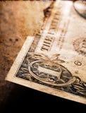 Gebrannter Dollar-Abschluss oben stockbild