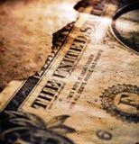 Gebrannter Dollar-Abschluss oben stockfotos