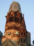 Gebrannter Glockenturm Stockbild