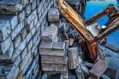 Gebrannter Stuhl in Kiew Lizenzfreies Stockfoto