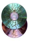 Gebranntes CD und DVD Stockfoto