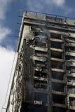 Gebranntes Gebäude Lizenzfreies Stockbild