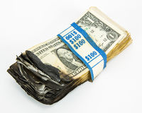Gebranntes Geld Stockfotografie