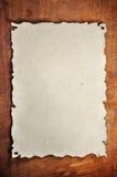 Gebranntes Papier Lizenzfreies Stockfoto