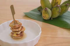 Gebratene Banane Lizenzfreies Stockbild