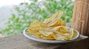 Gebratene Bananenchips Lizenzfreies Stockfoto