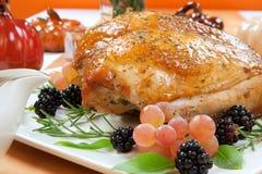 Gebratene die Türkei-Brust - Rosemary-Basil Rub Stockfotografie