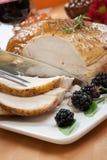 Gebratene die Türkei-Brust - Rosemary-Basil Rub Lizenzfreie Stockfotos