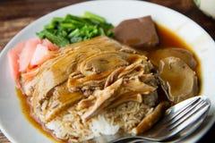 Gebratene Ente mit Reis Lizenzfreies Stockbild