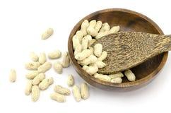 Gebratene Erdnüsse Stockbild