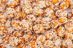 Gebratene Erdnüsse beschichtet Lizenzfreies Stockfoto