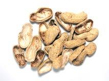 Gebratene Erdnüsse getrennt Stockfotografie