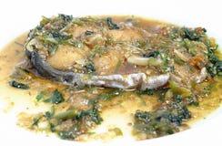 Gebratene Fische mit Soße Lizenzfreies Stockbild