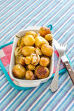 Gebratene Frühkartoffeln Stockbilder
