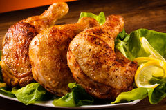 Gebratene Hühnerbeine Lizenzfreie Stockfotografie