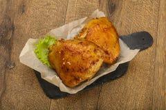 Gebratene Huhnschenkel Stockbild