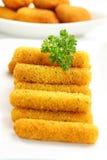 Gebratene Käsesteuerknüppel stockfotos