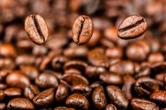 Gebratene Kaffeebohnen stockfotos
