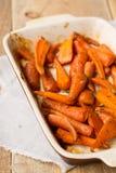 Gebratene Karotten stockbilder