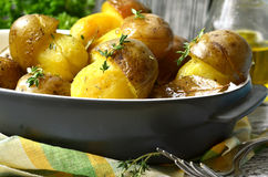 Gebratene Kartoffel '' Pilze Lizenzfreies Stockfoto