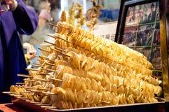 Gebratene Kartoffelchips Stockfoto