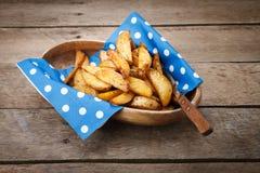 Gebratene Kartoffeln. Stockbild