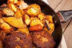 Gebratene Kartoffeln Stockfoto