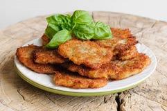 Gebratene Kartoffelpfannkuchen Lizenzfreie Stockbilder
