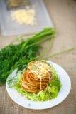 Gebratene Kartoffelpfannkuchen mit Käse Stockfoto